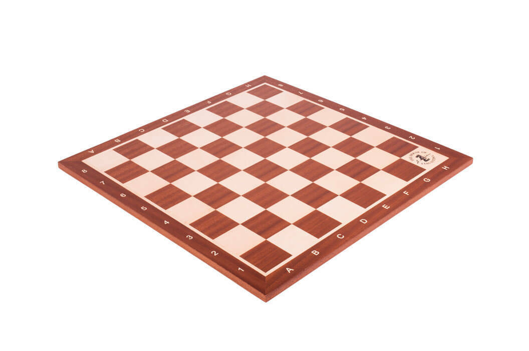 Mahogany & Maple boisen TournaHommest Chess Board - 2.25   With Notation & Logo  beaucoup de concessions