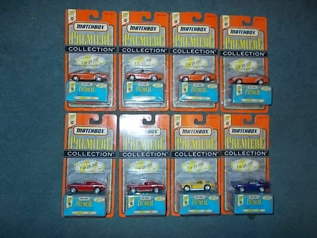 8 MATCHBOX PREMIERE COLLECTION 4 Camaro's,2 Mustang's.GTO and Corvette