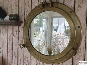 20-034-Porthole-Mirror-Antique-Brass-Finish-Large-Nautical-Cabin-Wall-Decor