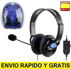 Cascos auriculares con microfono para playstation4, ps4, pc Ordenador Gaming CAB