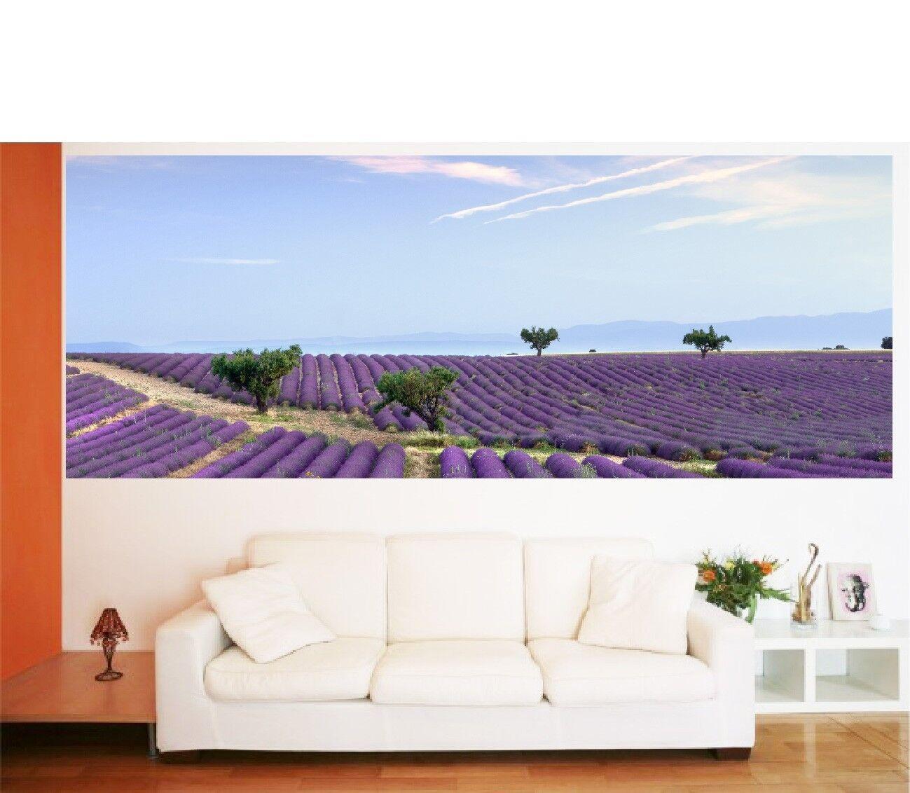 Papel pintado panorámica Campos de la lavanda 3611 Arte decoración Pegatinas
