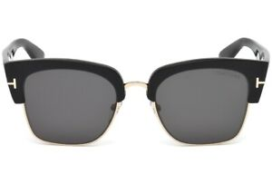 Tom-Ford-DAKOTA-02-TF554-01A-FT0554-Black-GOLD-CLUBMASTER-Sunglasses-55-20-140