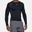 Men/'s Under Armour  HeatGear Armour Long Sleeve Compression Shirt Black.