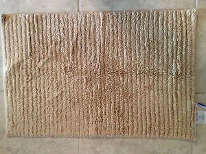 Park B Smith Pebble Stripe Zero Twist 20 By 30 Bath Rug Linen