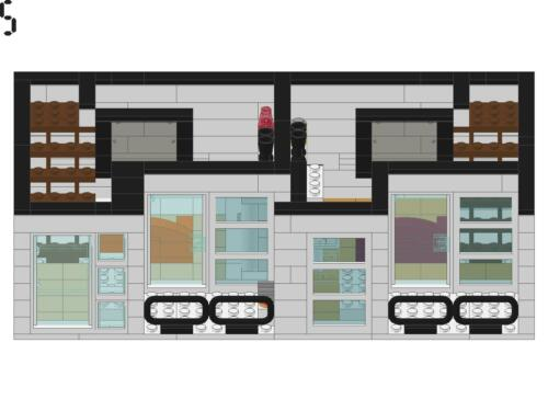 LEGO Custom Coffee Shop and Condo Modular Building Instructions ONLY!