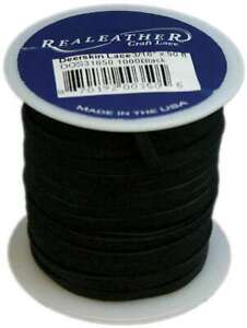 Realeather Crafts Deerskin Lace Chocolate 3//16-Inch by 2-Yard