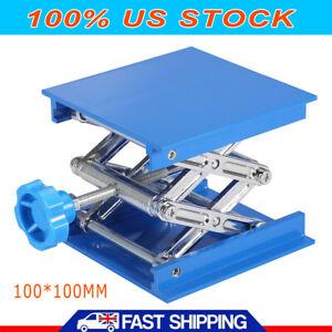 Aluminum-Oxide-Lab-Stand-Scissor-Lift-Lifting-Platform-Laboratory-Jack-Table-USA