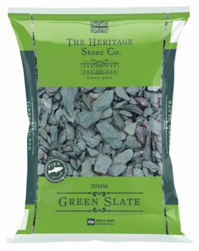 Green Slate Bags Slate Decorative Chips Chippings Pebbles Garden