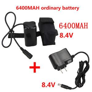1PC 6400mAh 8.4v 18650 Battery Pack For LED Bicycle Bike Front Light Headlight D