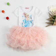 Frozen Princess Elsa Tutu Dress Pageant Party Dress Size 1-7 k32