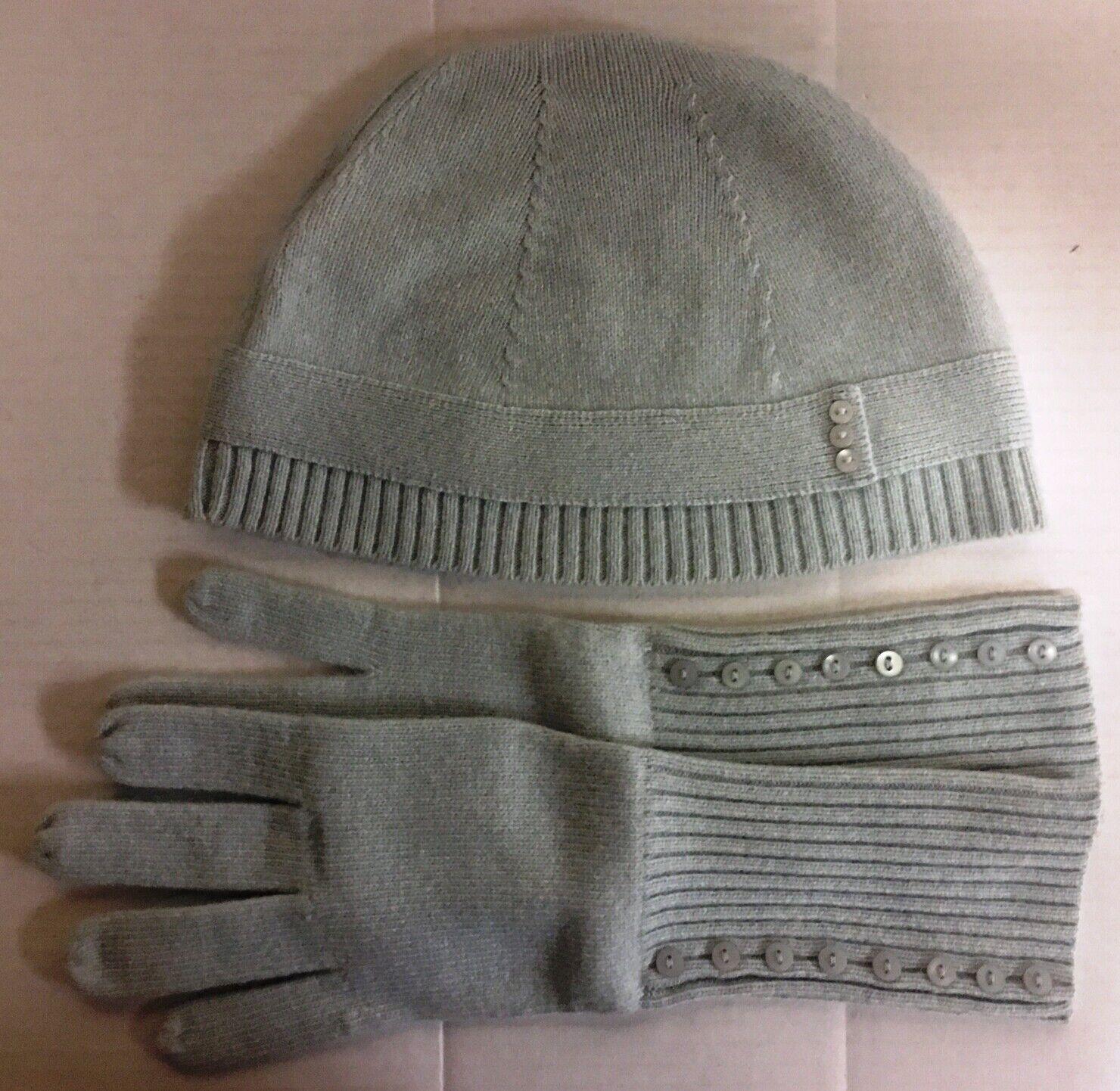 Ann Taylor Loft Beanie Hat & Gloves, new, no tags