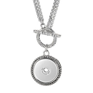 55cm-Stainless-Steel-Chain-Vocheng-Ginger-Snap-Jewelry-Toggle-Necklace-Pendant