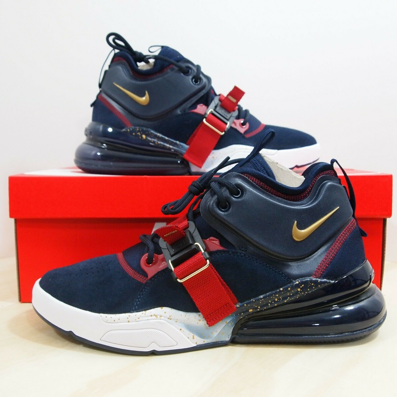 9f018e9bf5 Nike Air Force 270 Men's Size 10.5 Olympic Dream Team Obsidian gold AH6772 -400