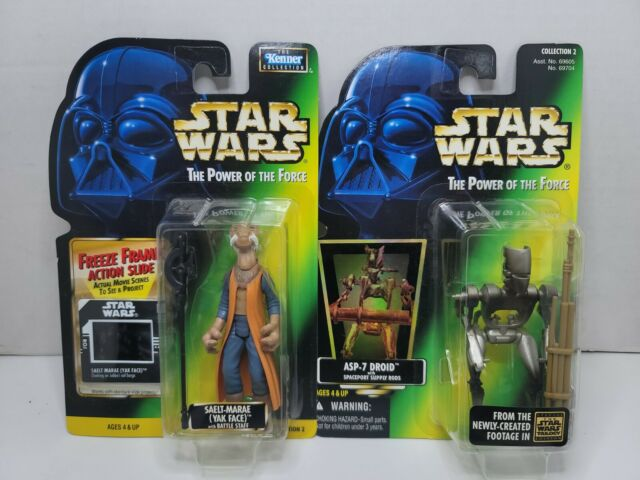 Star Wars Power of The Force Saelt-Marae Yak Face & Asp-7 Droid lot of 2 figures