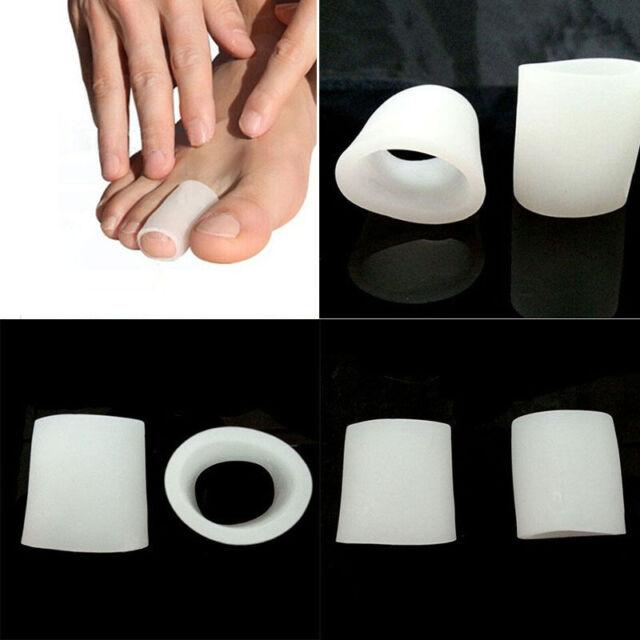 2Pcs Gel Toe Tube Separator Bunion Protector Foot Corn Blister Pain Relief OFVGC