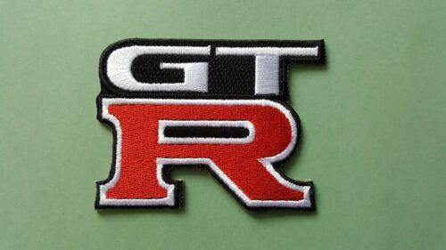 a GRAN TURISMO GT-R IRON ON PATCH: MOTOR RACING CAR SPEED FESTIVAL SEW ON
