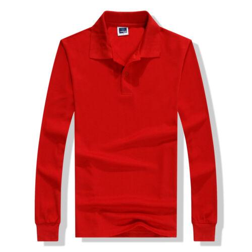 Environmental Cotton Long Sleeve Button Collared Shirt Solid Autumn Sweatshirt