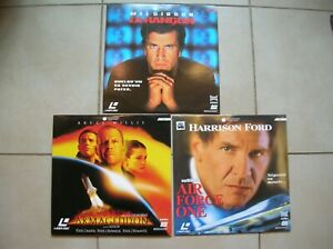 Lot-de-3-laserdiscs-Armageddon-Air-Force-One-La-Rancon-Gibson-Ford-Willis-Damon