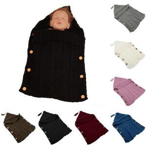 Newborn-Baby-Infant-Solid-Warm-Knit-Sleeping-Bag-Swaddle-Wrap-Swaddling-Blanket