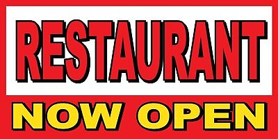 """Sizes 24/"""" 96/"""" 72/"""" 120/"""" Abierto Now Open BANNER SIGN 48/"""" Yellow"""