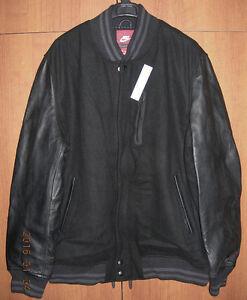 2df1ad639859 NIKE DESTROYER VARSITY LEATHER WOOL JACKET NSW BLACK Gr.S sp 545942 ...