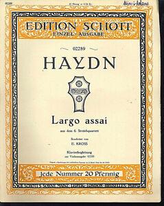 Haydn-Largo-assai-alte-uebergrosse-Noten-Piano-und-Violine