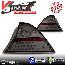 01-03 Civic LED Tail Lights 2DR Coupe Only Chrome Smoke Rear Lamps - PAIR