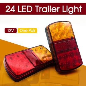 LED-Rear-Stop-Brake-Lights-Waterproof-Trailer-Caravan-BAR-E207-12V-SUMERGABLE