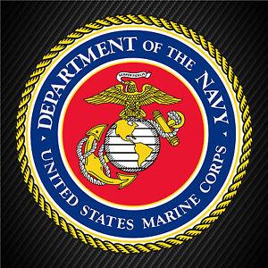U.S.M.C United Sates Marine Corp Seal Military Insignia Vinyl Decal Sticker JC