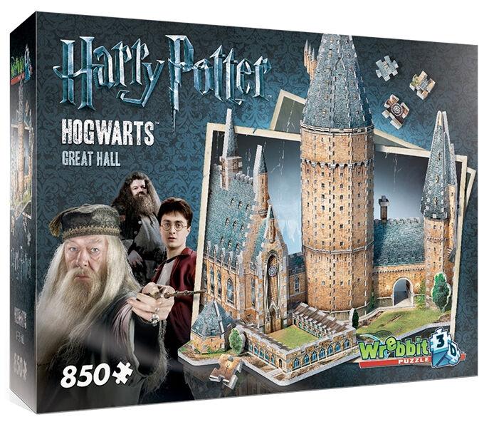 Puzzle 3dHarry Pottergree sala, 850 parti, Hogwarts, Rowling, Wrebbit