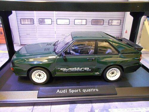 """Audi Sport quattro /""""el breve/"""" verde Quattro 1985 norev 188318 1//500 1:18"""