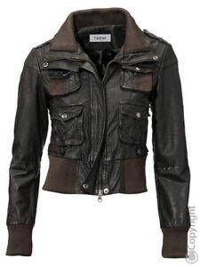 kaufen Modern und elegant in der Mode meistverkauft Details zu HEINE - DAMEN - JACKE - LEDERJACKE - LAMMNAPPA -BRAUN- Gr.40 -  NEU