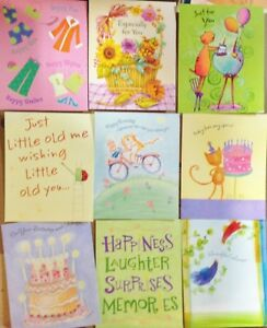 WARM WISHES Greeting Cards By HALLMARK Package Of 9 BIRTHDAY And