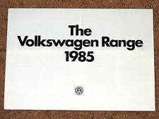 1985 VW RANGE Sales Brochure inc Golf GTI & Convertible, Polo Coupe, Scirocco