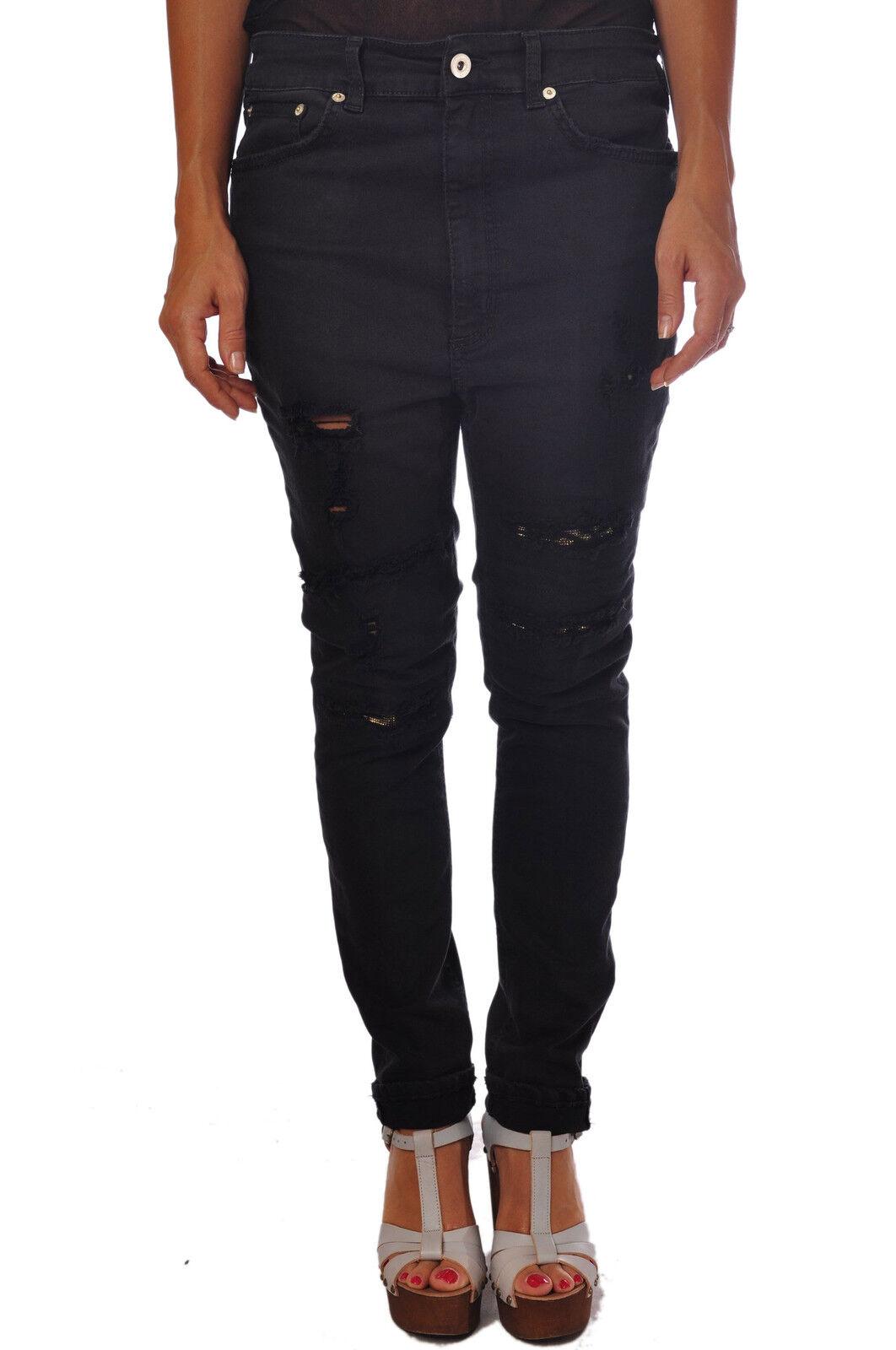 Dondup-pantalones-Mujer  - 27-Negro - 374111n155636  contador genuino