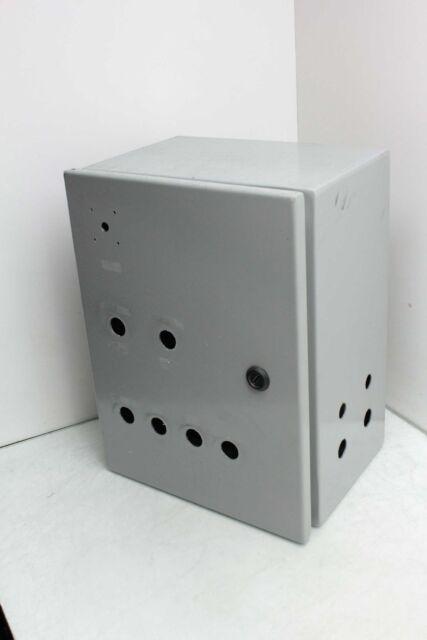 """Wiegmann N1C121406WW Wall Mount Electrical Enclosure Cabinet 12/"""" x 14/"""" x 6/"""""""