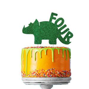 Outstanding Dinosaur 4Th Birthday Cake Topper Number Four 4Th Topper Birthday Cards Printable Benkemecafe Filternl
