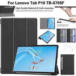 Coque pour Lenovo Tab P10 TB-X705F Cuir Antichoc Pliable Stand Smart Cover