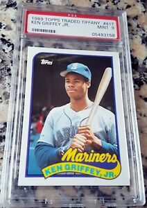 Ken Griffey Jr 1989 Topps Traded Tiffany Sp Rookie Card Rc