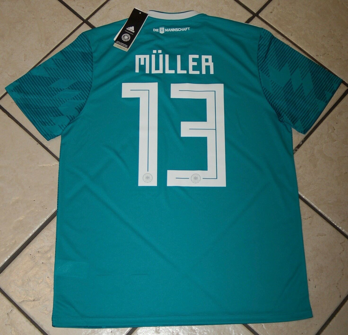 d1733f2eb60 Adidas Men s MULLER Germany Away Soccer Jersey