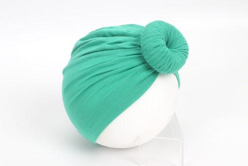 Baby Girls Women Bun Knot Floral Turban Head Wrap Kids Ear Hat Cotton Velvet Cap