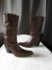 bottes santiags free lance cuir marron pointure 38