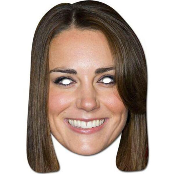 10 X Kate Middleton Celebrity Faccia Maschere Costume Festa Compleanno Gallina Notte Bianco Puro E Traslucido