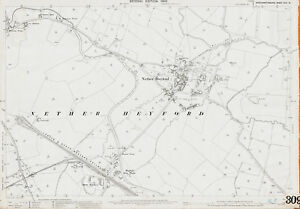 Nether-Heyford-1900-Northants-old-OS-map-repro-44-13