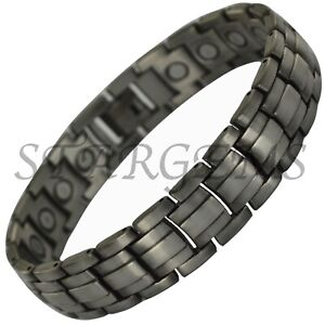 MENS-MAGNETIC-BRACELET-PAIN-RELIEF-ARTHRITIS-HEALTH-HEALING-HIGH-STRENGTH-GIFT