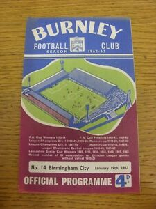 19011963 Burnley v Birmingham City   Thanks for viewing this item we try and - <span itemprop=availableAtOrFrom>Birmingham, United Kingdom</span> - Returns accepted within 30 days after the item is delivered, if goods not as described. Buyer assumes responibilty for return proof of postage and costs. Most purchases from business s - Birmingham, United Kingdom