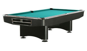 pool billard competition 9 ft schwarz billardtisch tuchfarbe gr n ebay. Black Bedroom Furniture Sets. Home Design Ideas