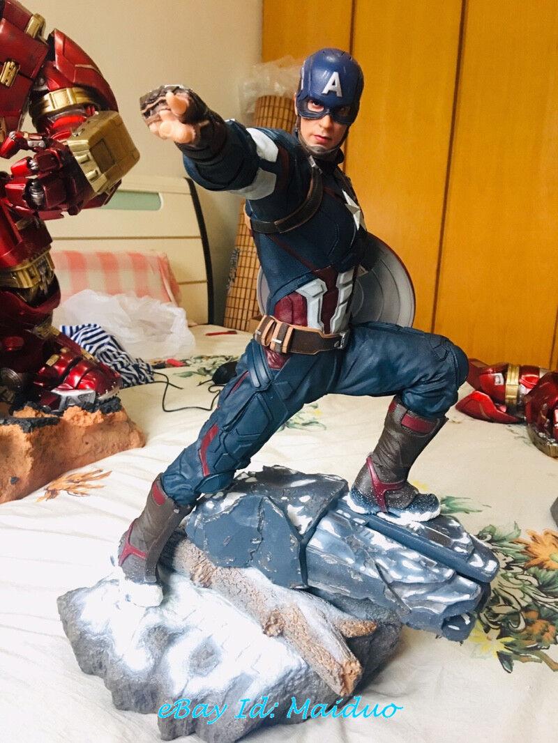 1 4 Modelo De Resina Estatua De Capitán América estatuilla Coleccionable Ironman