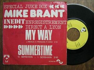 MIKE-BRANT-45-TOURS-FRANCE-SPECIAL-JUKE-BOX-MY-WAY