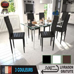 Table Chaise Salle A Manger.Details Sur Table Chaise Salle A Manger Ligne Slim Lot De 2 4 6 Chaises Cuisine Design Fin
